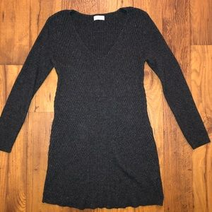 Grey old navy long maternity sweater